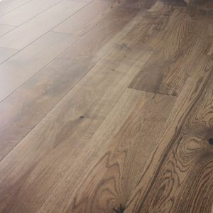150mm x 14mm Coffee Stain Oak Lacquered Engineered Wood Flooring