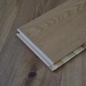 190mm x 15mm Oak Brushed & Matt Lacquered Click Engineered Wood Flooring