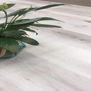French White SPC Engineered Vinyl Click Flooring 180mm x 4mm x 1220mm with underlay
