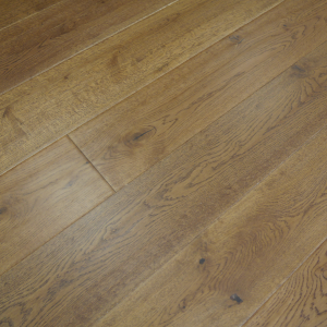 190mm x 14/3mm Random Lengths Golden Handscraped Lacquered Oak Classic Engineered Click Wood Flooring