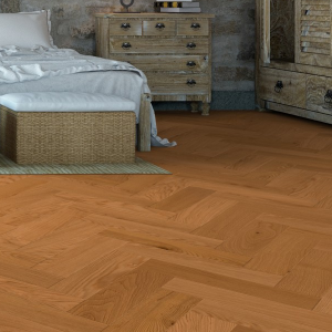 150mm Oak UV Lacquered Herringbone Engineered Rustic Click Flooring