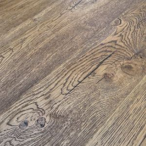 Antique Brown Oil 190mm x 15mm Thick Distressed Engineered Wood Flooring