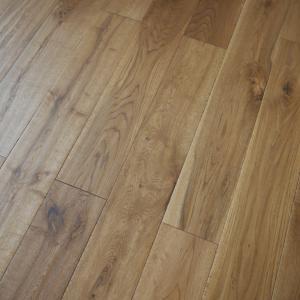 125mm x 18mm Golden Handscrapped Oak UV Oiled Solid Wood Flooring