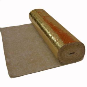 3mm Rubber Underlay with Gold Vapour Barrier 10m