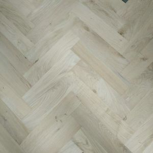 90mm x 18mm x 400mm Rustic Oak Unfinished Herringbone Engineered Flooring