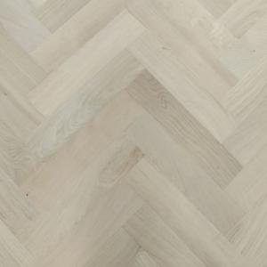 90mm x 18mm x 400mm Oak Unfinished Herringbone Engineered Prime Flooring