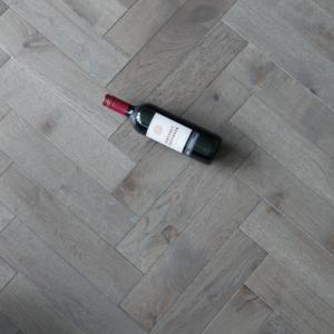 90mm x 18/4mm x 400mm Grey Wax Oiled Herringbone Engineered Rustic Flooring