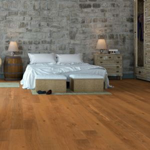 Brushed and Natural Oiled Multi-Ply Engineered Oak Flooring 190mm x 20mm