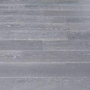 127mm Oak Grey Brush & Lacquered Engineered Wood Flooring
