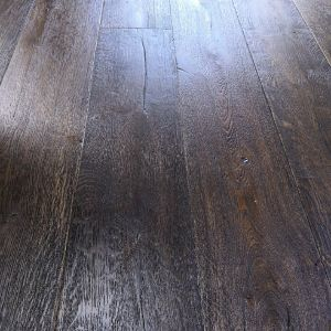 220mm x 15/4mm x 2200mm Antique Black Oiled Distressed Engineered Oak Flooring