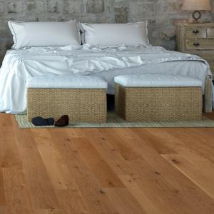 125mm x 18mm Rustic Oak Lacquered Solid Wood Flooring