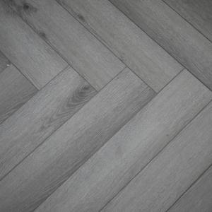 Pearl Grey SPC Herringbone Engineered Vinyl Click Flooring 126mm x 6mm x 630mm