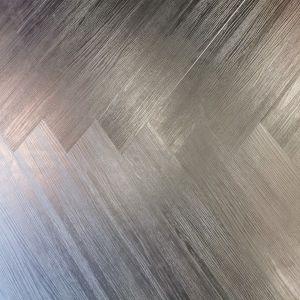 Jet Black SPC Herringbone Engineered Vinyl Click Flooring 128mm x 6.5mm x 615mm