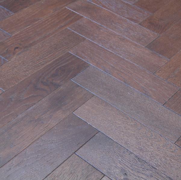 Dark Walnut Engineered Oak Herringbone Flooring
