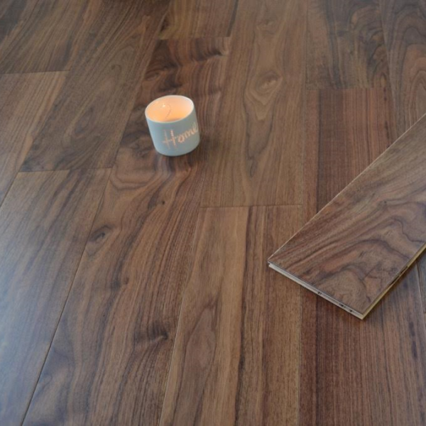 150mm X 14mm Walnut Lacquered, 14mm Thick Laminate Flooring