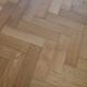 80mm x 18mm x 300mm Oak Brush & Matt Lacquered Herringbone Engineered Rustic Flooring