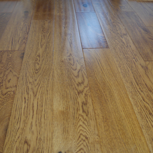 125mm x 18mm Oak Golden Handscrapped Lacquered Engineered Wood Flooring
