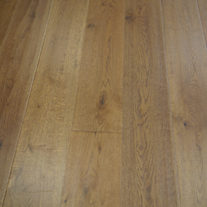 190mm x 14/3mm Random Lengths Golden Handscraped Lacquered Oak Classic Engineered Click Wood Flooring
