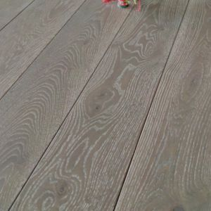 190mm x 14/3mm Random Lengths Grey Lacquered Oak Classic Engineered Click Wood Flooring