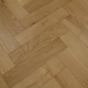 90mm x 14mm x 450mm Oak Brush & UV Oiled Herringbone Engineered Rustic Flooring