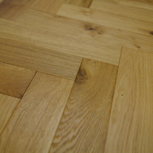 90mm x 18mm x 400mm Oak Brush & UV Oiled Herringbone Engineered Rustic Flooring