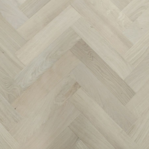 90mm x 18mm x 400mm Oak Unfinished Herringbone Engineered Prime Flooring