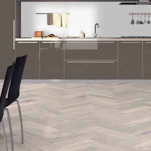 Grey Oak Engineered Herringbone Parquet