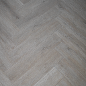 Misty Smoked SPC Herringbone Engineered Vinyl Click Flooring 126mm x 6mm x 630mm