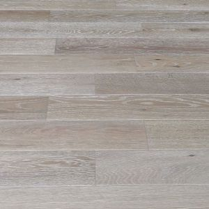 127mm x 13/2.5mm x random lengths Oak White Brush & Lacquered Rustic Grade Engineered Wood Flooring