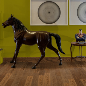 125mm Smoky Oak Brush & Lacquered Engineered Wood Flooring