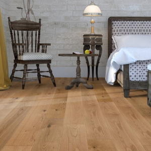 190mm x 15mm Oak Brushed & Oiled Click Engineered Wood Flooring