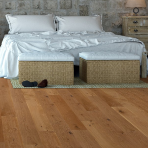 125mm x 18mm Rustic Oak Lacquered Solid Wood Flooring