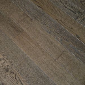 190mm x 14/3mm Random Lengths Smoked Stain Oak Brushed & Lacquered Classic Engineered Click Wood Flooring
