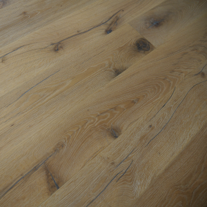 190mm x 20/6mm x 1900mm Antique White Brushed & Distressed Oiled Engineered Oak Flooring