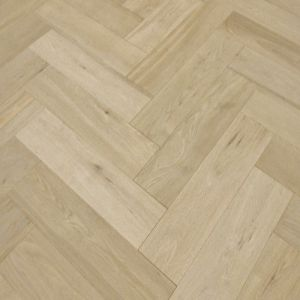 Unfinished Oak Herringbone Parquet Engineered Flooring 150mm x 14mm