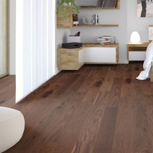 Walnut Lacquered Engineered Wood Flooring 190mm x 18mm