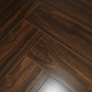 Versailles Walnut Herringbone Laminate Flooring 12mm