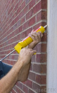 Applying Silicone Sealant to a Wall