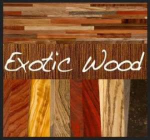 Exotic Hardwood Species - Image courtesy by: crlumber.com