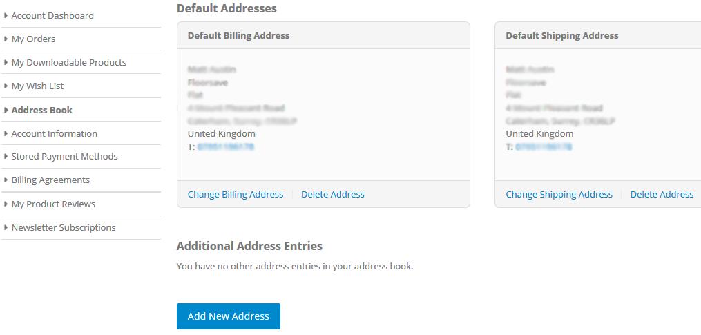 Floorsave Delete Default Address