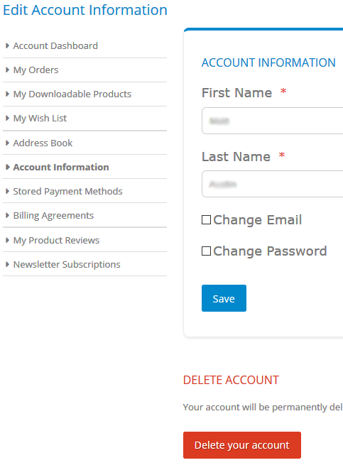 Floorsave Delete Customer Account