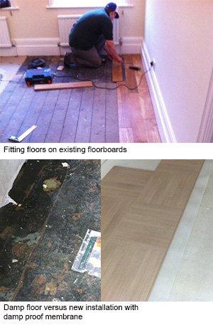 Fitting wood floors