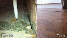 wooden subfloor