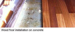 Fitting wood floors on concrete.